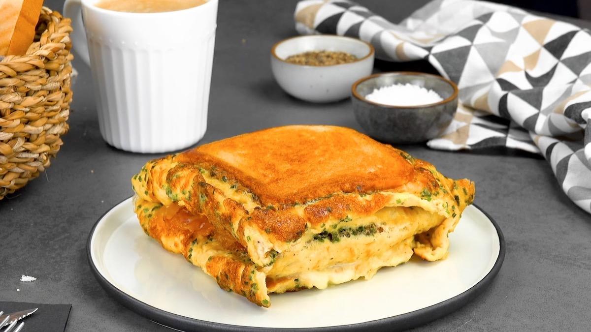 Ricette sandwich di omelette ripiena