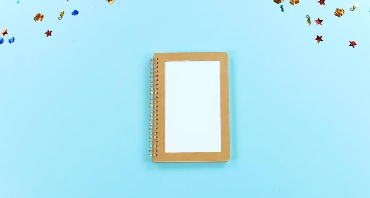 Copertina quaderno ritagliata