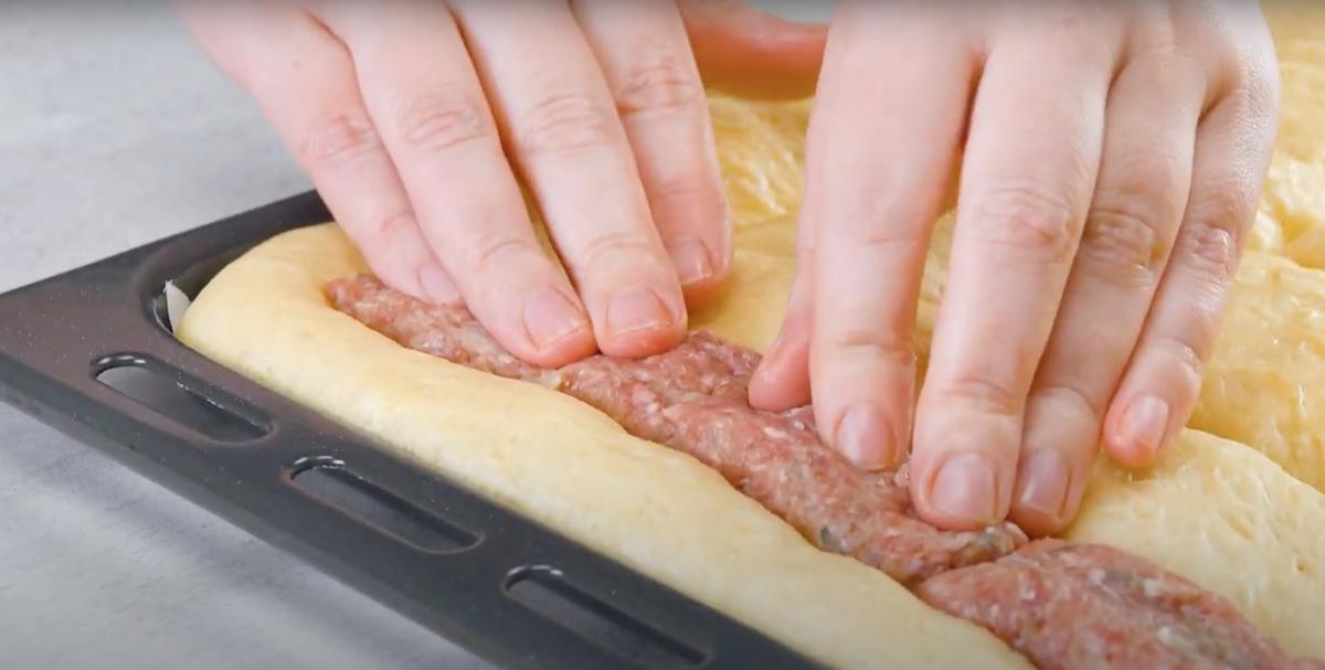 Carne macinata nella pasta lievitata