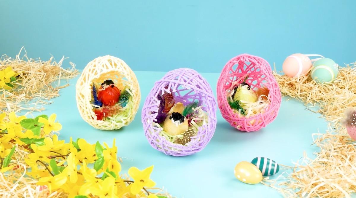 Uova pasquali di lana