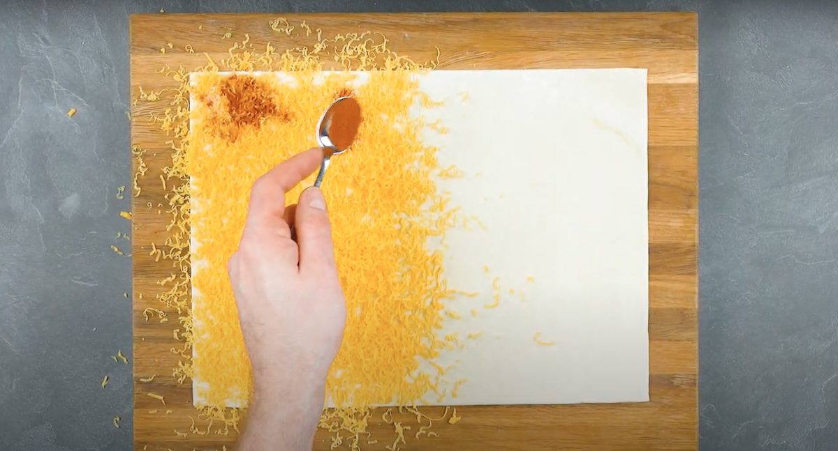 Pasta sfoglia con cheddar