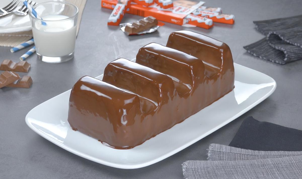 Torta fredda | Barretta di cioccolato Kinder XXL