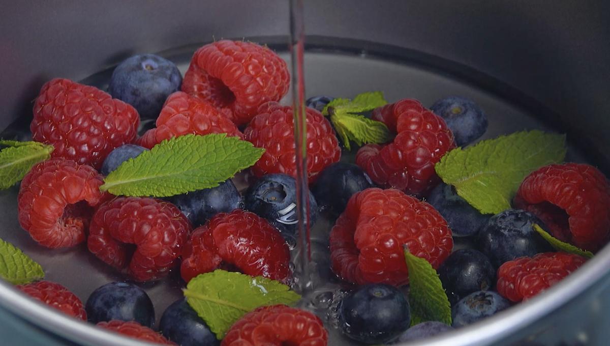 Frutti di bosco e gelatina