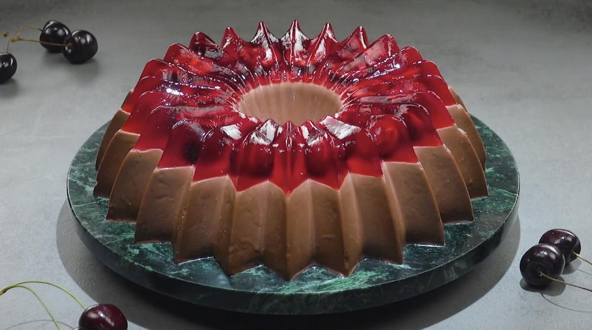 logo Budino al cioccolato con gelatina alla ciliegia