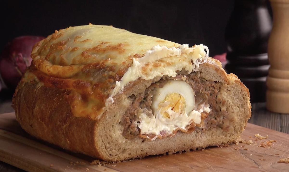 Polpettone al forno in crosta di pane