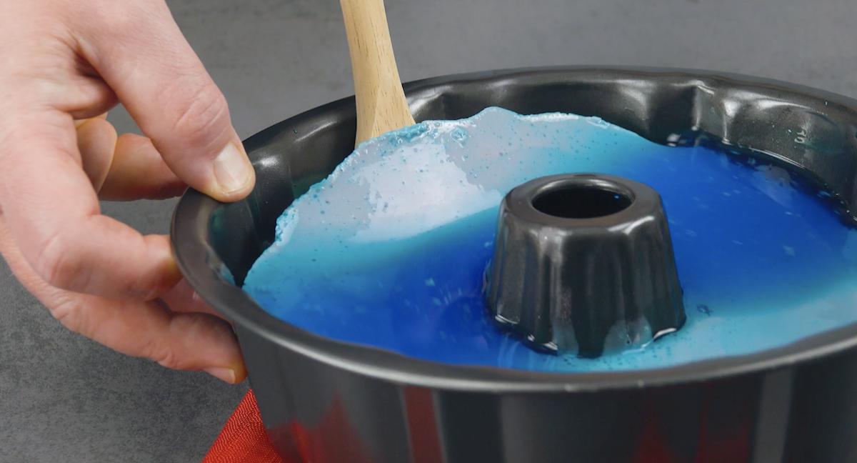 Gelatina blu al mirtillo