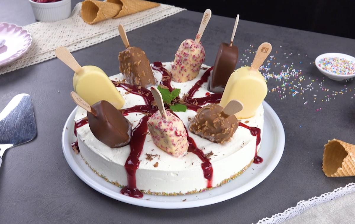 Cheesecake fredda con Magnum gelato