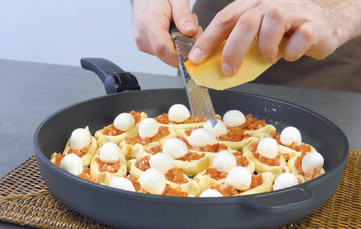 Uovo sbattuto e parmigiano