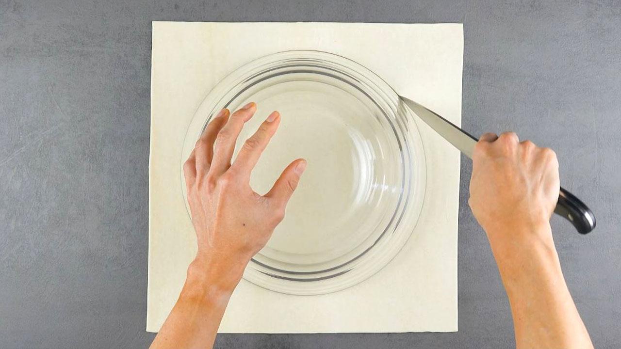 Cerchio di pasta sfoglia