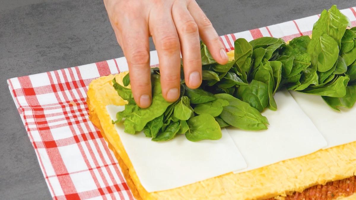 Frittata al forno con spinaci novelli