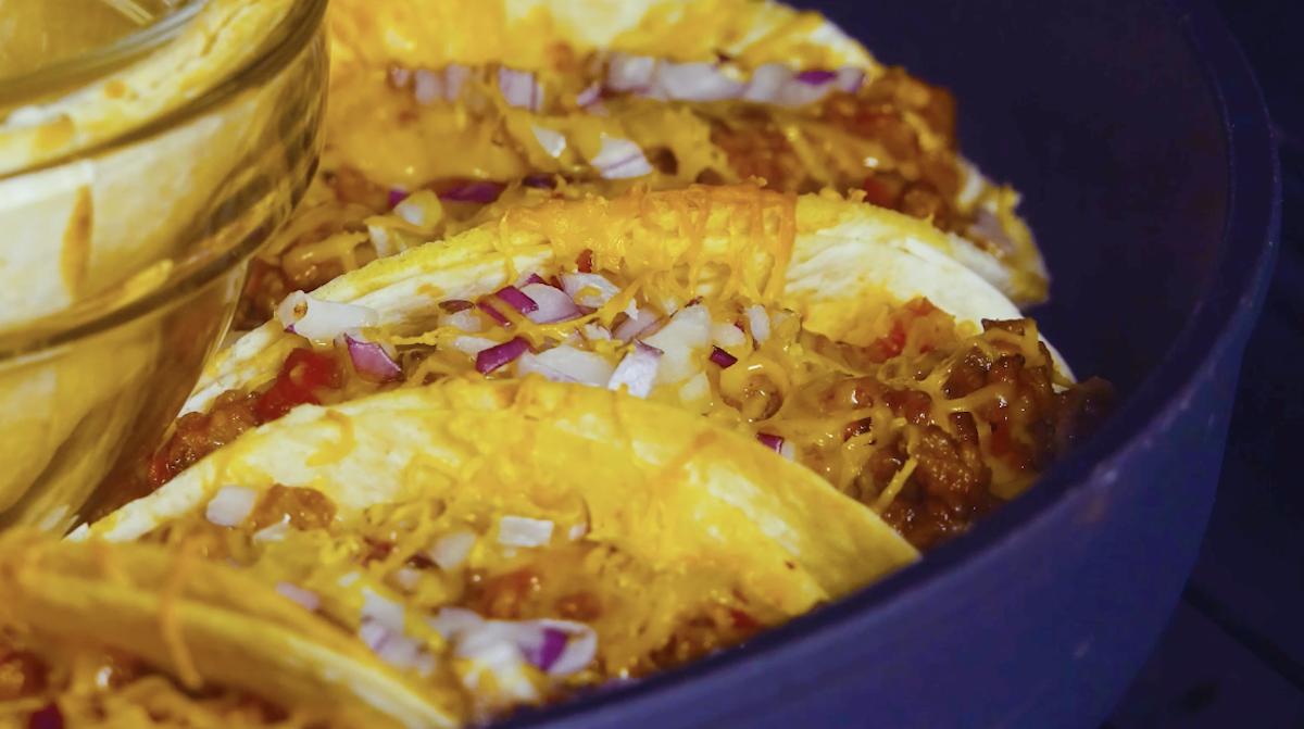 Tortillas ripiene in forno