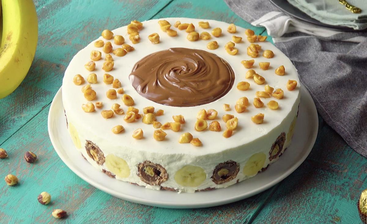 Semifreddo al mascarpone con Ferrero Rocher e nutella