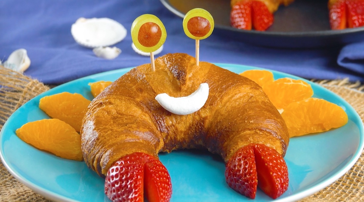 Croissant a forma di granchio