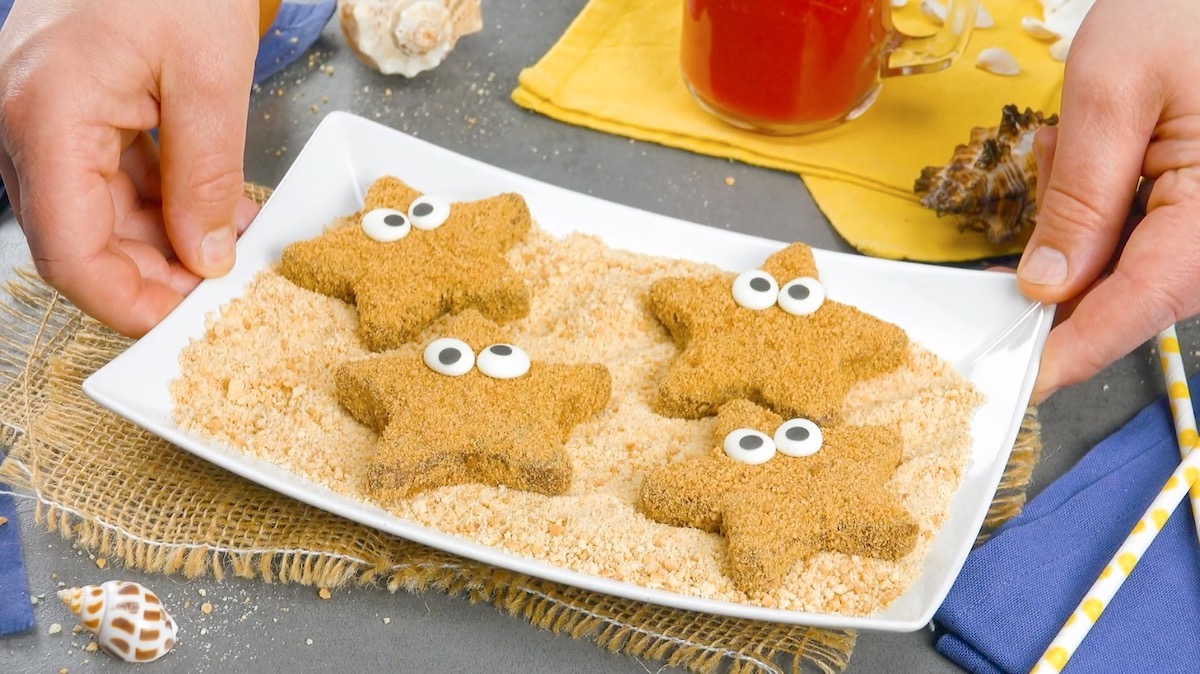 Stelle marine di biscotti al cioccolato