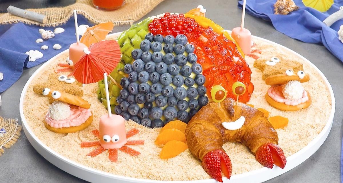 Snack dolci a forma di creature marine