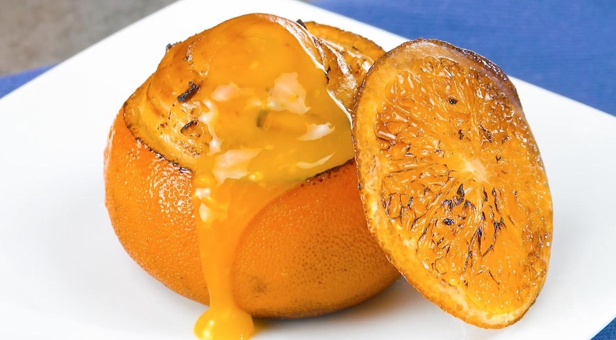 Arance ripiene di pasta brioche e marmellata di arance