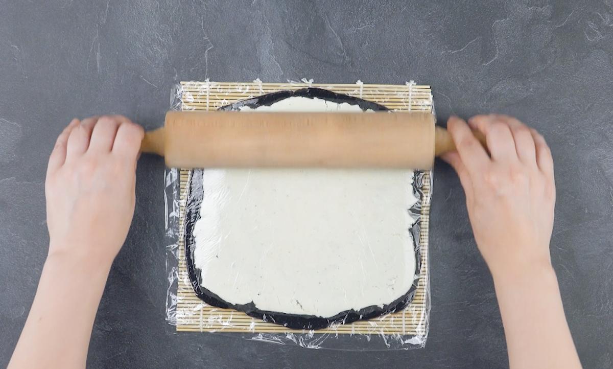Strato di crema alla vaniglia