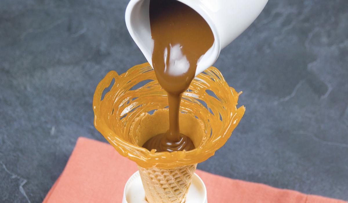 Cono gelato ripieno di Nutella