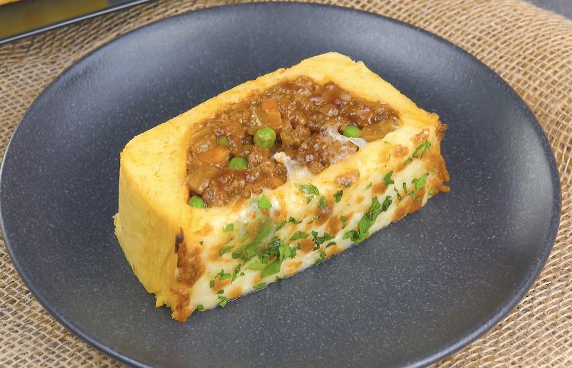 Pasticcio di carne macinata e purè di patate