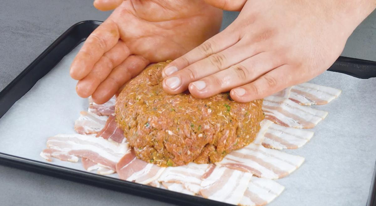 Polpetta di carne macinata ripiena