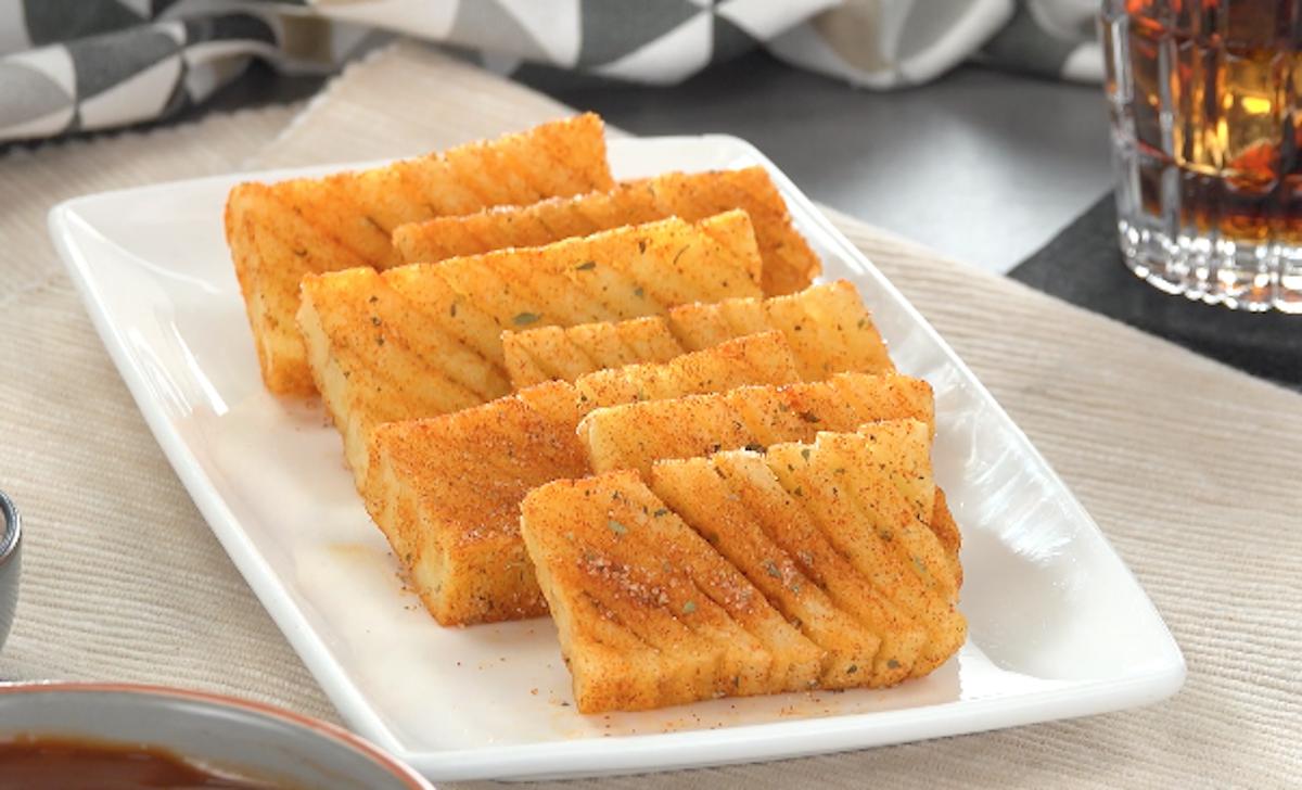 Patate fritte a fisarmonica
