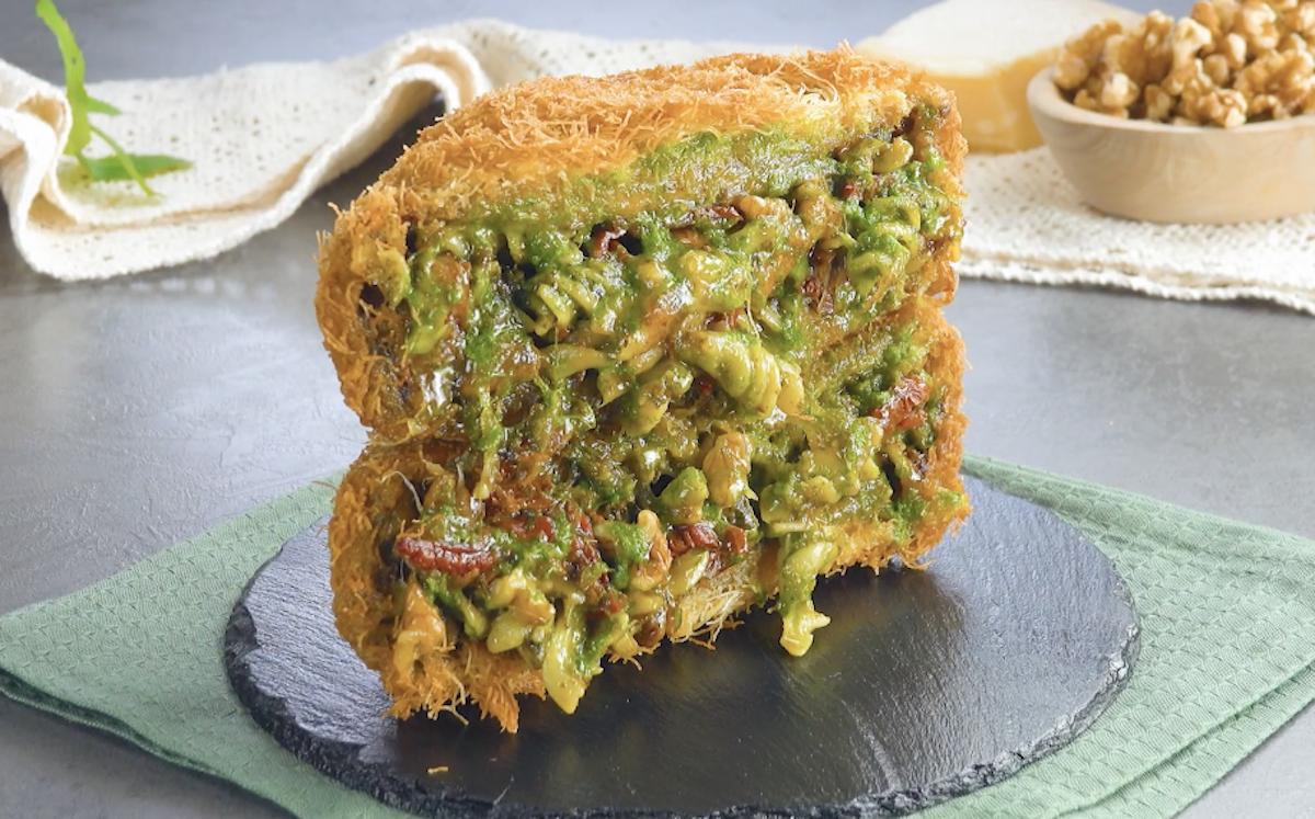 Frittata di pasta al pesto alla genovese