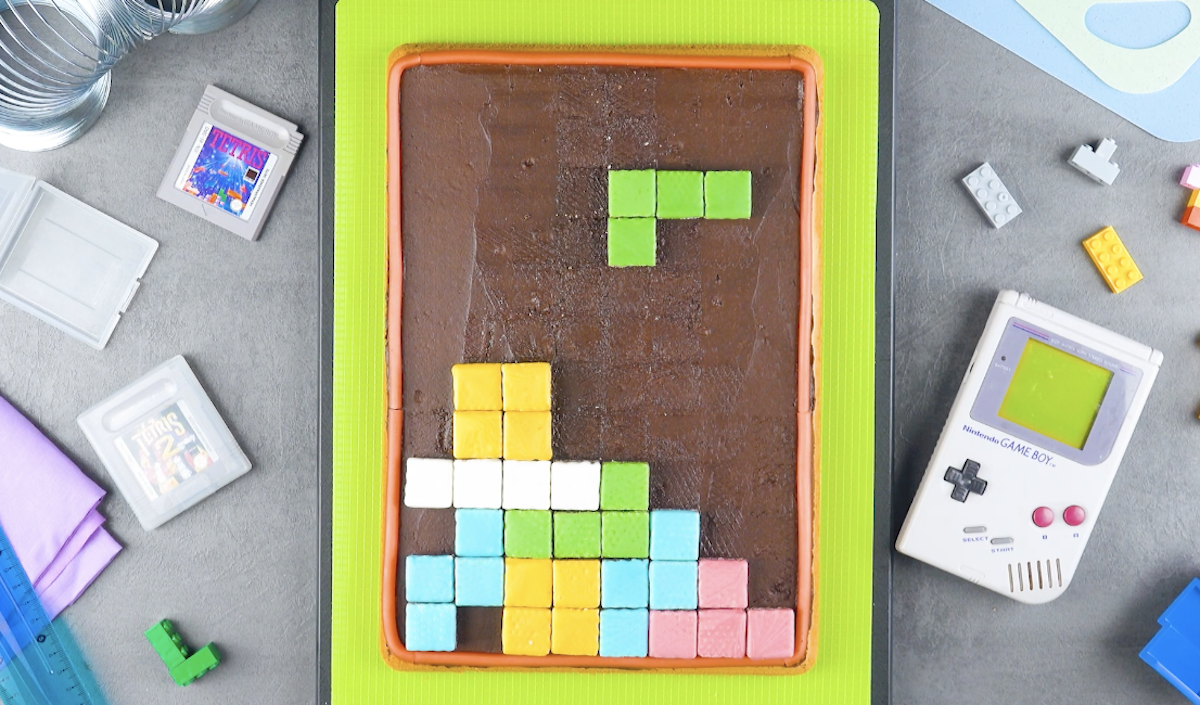Torta a forma di gioco Tetris