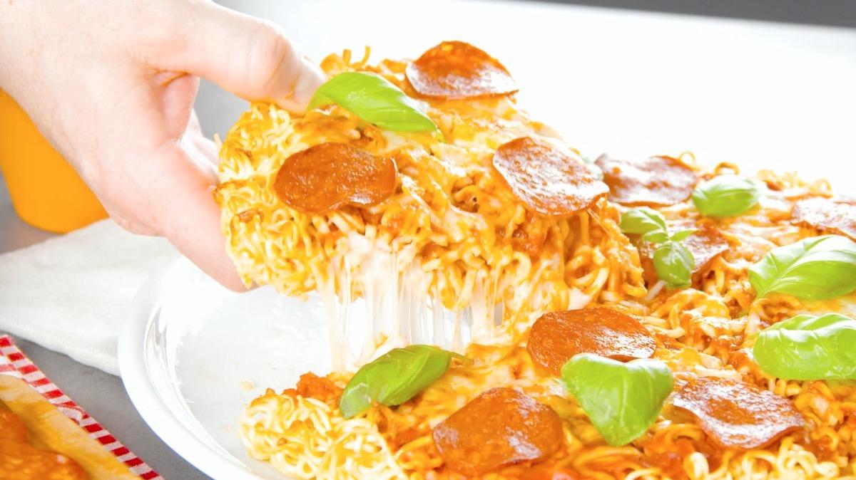 Tortino di pasta con noodled