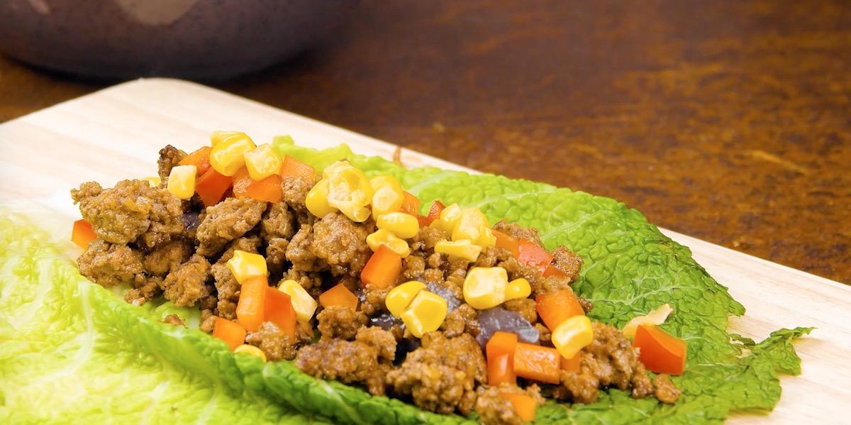 Involtini di verza con carne macinata